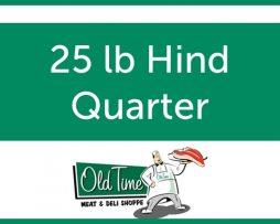 25 lb Hind Quarter