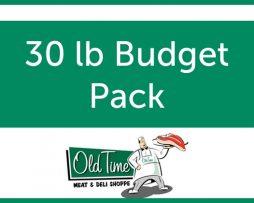 30 lb Budget Pack